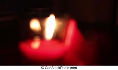 diffuse light from candles, standing on the table - diffuse...