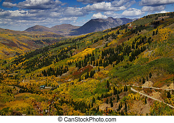 San Juan mountains - Autumn in San Juan mountains of...