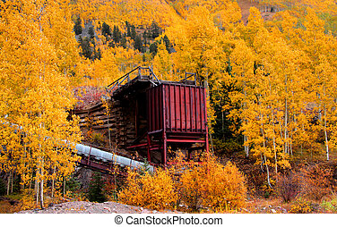 Old mill in Colorado - Old mill in the middle of scenic...