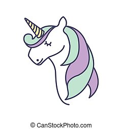 Cute fantasy unicorn icon