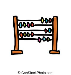 abacus school isolated icon vector illustration design
