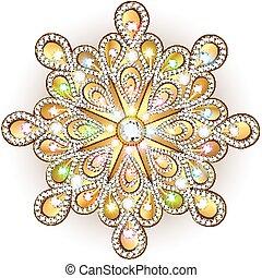 Christmas snowflake crystal precious. Beautiful jewelry,...