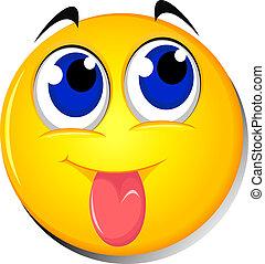 Cartoon Emoticon smiley - vector ilustration of Cartoon...