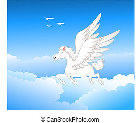 Cartoon pegasus - vector ilustration of Cartoon pegasus