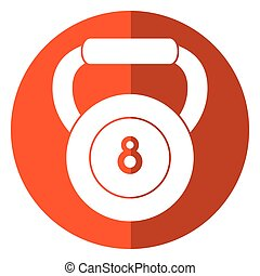 kettlebell weight fitness gym icon shadow
