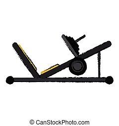 drawing press legs sport machine gym design vector...