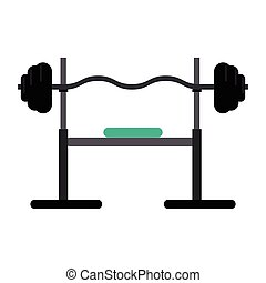 brench press exercise gym design vector illustration eps 10