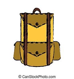 drawing backpack travel hiking equipment camping