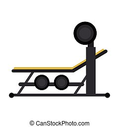 brench press with weight barbell sport vector illustration...