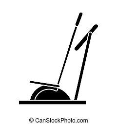 silhouette elliptical walker trainer machine gym vector...