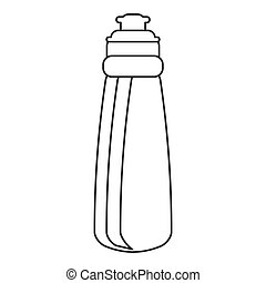 outline bottle water hydration fitness gym vector...