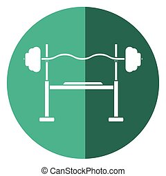brench press exercise gym design shadow vector illustration...