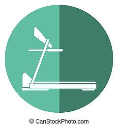 treadmill machine sport fitness shadow