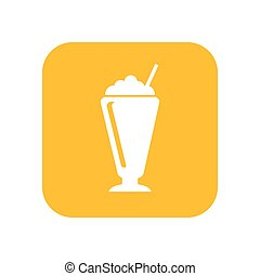 delicious coffee glass icon vector illustration design