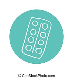 colors pallete isolated icon vector illustration design