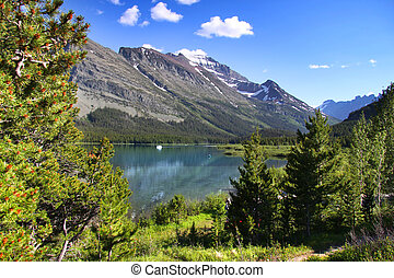 Glacier national park - Beautiful landscape in Glacier...