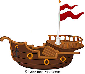 Pirate ship cartoon - vector ilustration of Pirate ship...