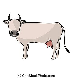 Indian brown cow