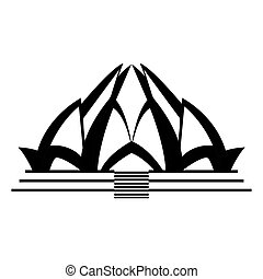 Lotus temple architecture icon vector illustration graphic...