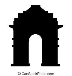 India gate delhi icon vector illustration graphic design