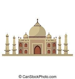 Taj mahal architecture icon vector illustration graphic...
