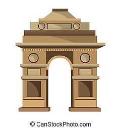 India gate delhi icon vector illustration graphic design