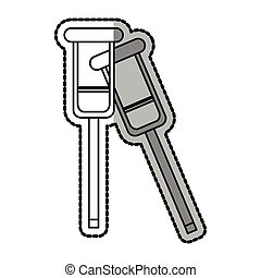 Isolated crutches design - Crutches icon. Medical health...
