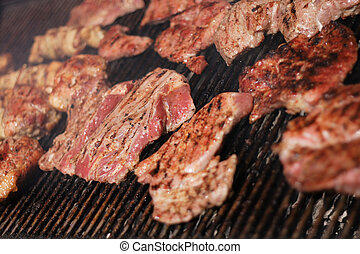 meat background - fresh steaks as very nice food background