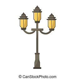 vintage street lamp icon vector illustration graphic design