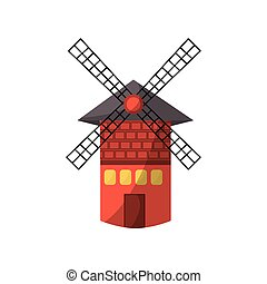 isolated windmill tower icon vector illustration graphic...