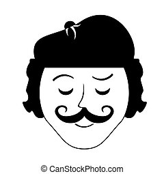 frenchman character cartoon icon vector illustration graphic...