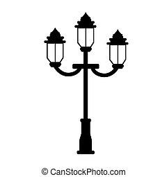 vintage street lamp icon vector illustration graphic design