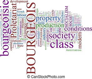 Word Cloud -  - A word cloud based on  Communist Manifesto