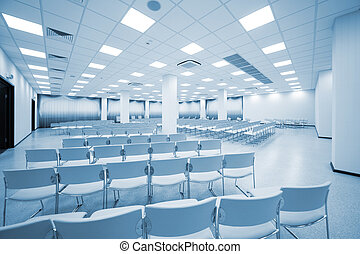 large and modern auditorium - large and modern white...