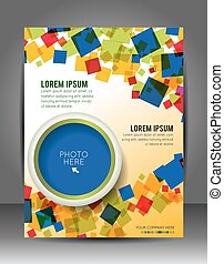 Business corporate background with cube, flyer, brochure...