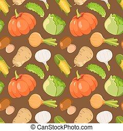 Healty food cartoon seamless pattern - Healty food cartoon...
