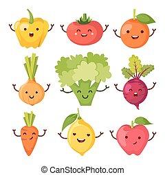Healty food cartoon representing set - Set of healty food...