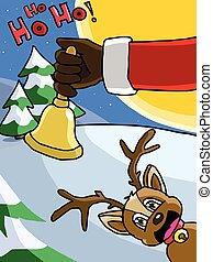 The bell in Santa Claus's hand vibrate. It's time to send...
