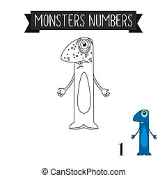 Coloring page monsters number 1