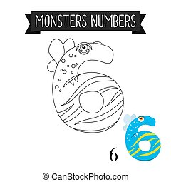 Coloring page monsters number 6