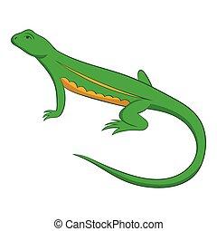 Salamander icon, cartoon style - Salamander icon. Cartoon...
