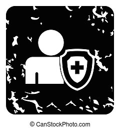 Medical insurance concept icon, simple style - Medical...