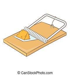 Mousetrap icon, cartoon style - Mousetrap icon. Cartoon...