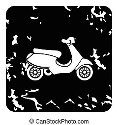 Scooter icon, grunge style - Scooter icon. Grunge...