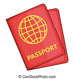 Passport icon, cartoon style - Passport icon. Cartoon...