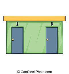 Toilet icon, cartoon style