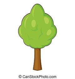 Park tree icon, cartoon style - Park tree icon. Cartoon...