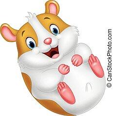 Cute hamster cartoon