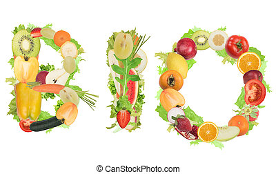 BIO with Fruits and vegetables - Fruits and vegetables form...