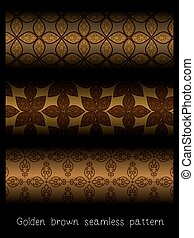 Golden brown seamless pattern
